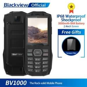 Blackview BV1000 IP68 Waterproof Shockproof Rugged Phone 2.4inch 3000mAh Dual SIM Mini Flashlight