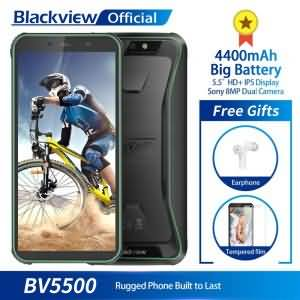 "Blackview BV5500 IP68 Waterproof Mobile Phone 2GB+16GB 5.5"" 18:9 Screen 4400mAh Android 8.1"