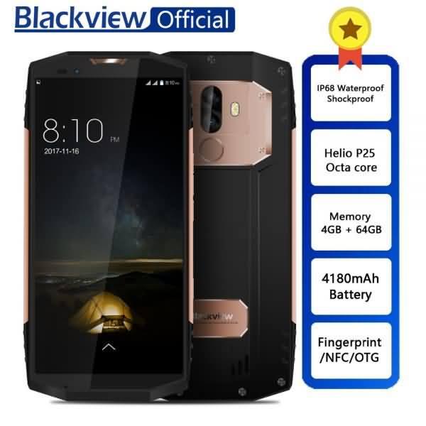 Blackview BV9000 Smartphone Helio P25 Octa Core 4GB+64GB 5.7inch IP68 Waterproof NFC 4G Cellphone