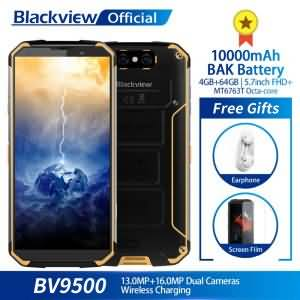 Blackview BV9500 10000mAh IP68 Waterproof 5.7inch FHD 18:9 Octa Core 4GB + 64GB 16.0MP Camera Android 8.1