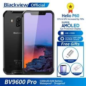 "Blackview BV9600 Pro IP68 Waterproof Mobile Phone Helio P60 6GB+128GB 6.21"" 19:9 FHD AMOLED Android 8.1 NFC"